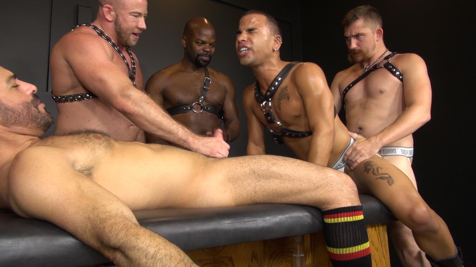 Interracial Gay Orgy 121