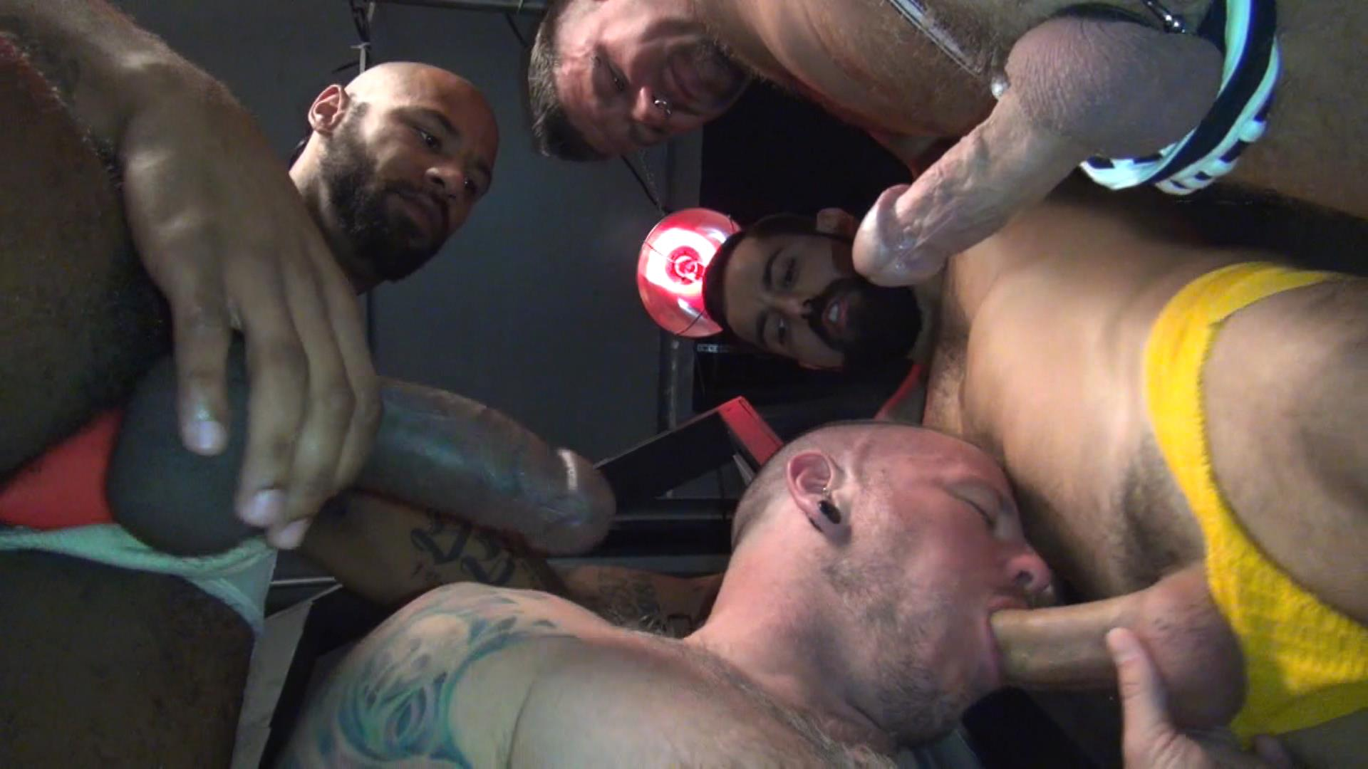 Raw Fuck Club Raw Fuck Club Max Cameron and Christian Matthews and Kory Mitchel and Dean Brody Bareback Bathhouse Amateur Gay Porn 5 Four Way Bareback Fucking And Cum Fest At The Bathhouse